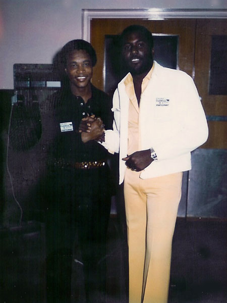 "Ernie & Richard Roundtree, star of ""Shaft"" fame, Watts-Stax Concert"