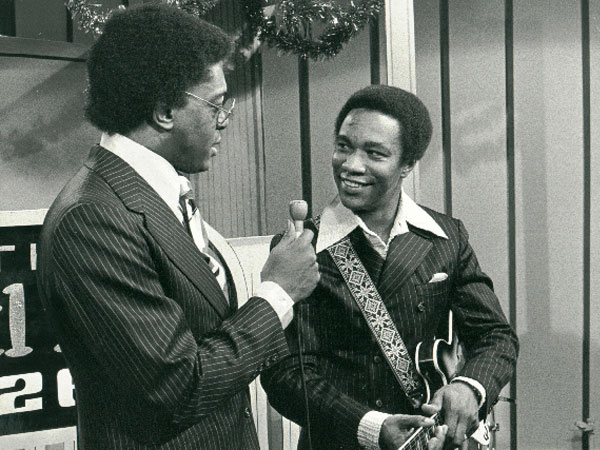 Ernie Hines with Don Cornelius on The Soul Train